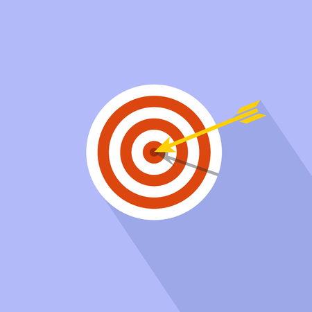 aim: Target marketing icon. Target with arrow symbol. Illustration