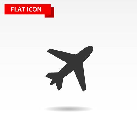 usaf: Jet Plane vector icon. Style is flat black symbol