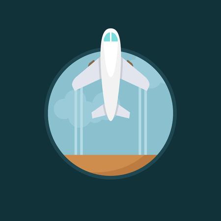 usaf: Flat vector bright air plane