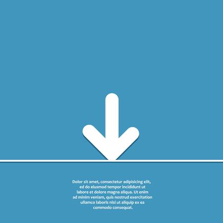 top pointer: Vector icon arrow Illustration