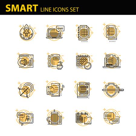entrepreneurship: Modern thin line icons set for business Illustration