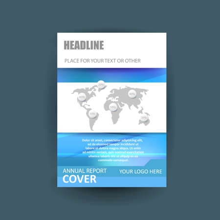 a4: A4 cover annual flyer report business vector