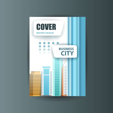 business report: A4 cover annual flyer report business vector
