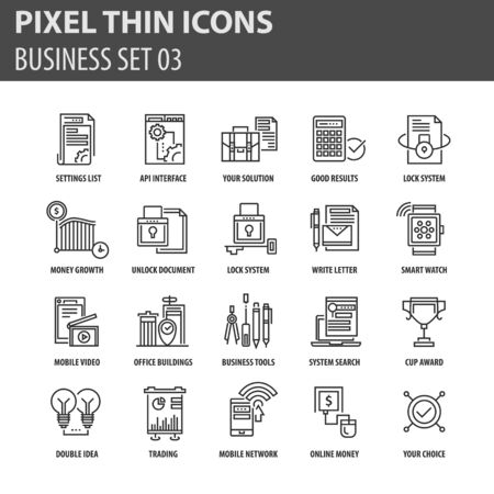 potential: Modern thin line icons set for business Illustration