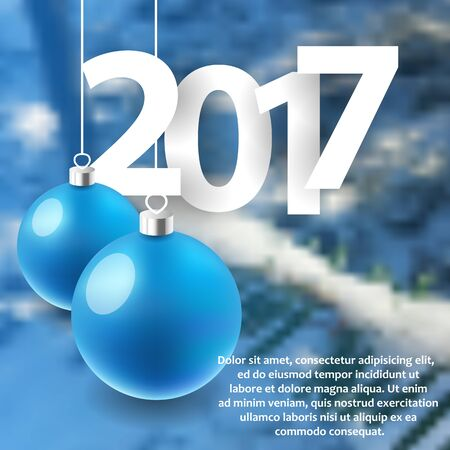 Happy New Year 2017 background. Calendar template
