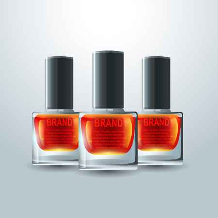 vector realistic nail. Cosmetic product, illustration for your projects