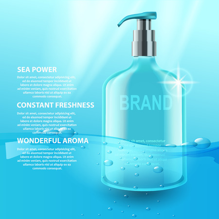 anti aging: Vector cosmetic tubes. Water power, good product