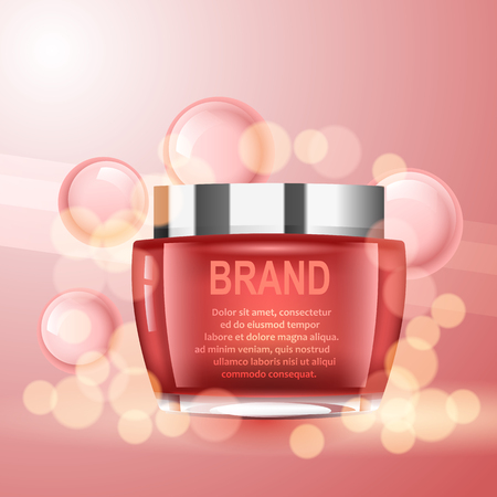 toner: Vector realistic cosmetic bottles with natural elements. Illustration