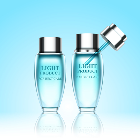 Set cosmetic bottles for your creative projects Иллюстрация