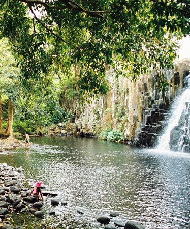 View of a cascade and lake