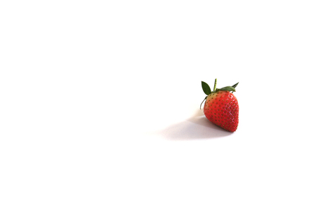 Single strawberry Banque d'images