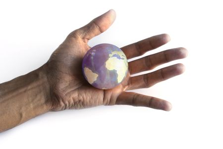 abstrait: The world in my hand Stock Photo