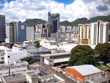 Port-Louis Mauritius skyline Editorial