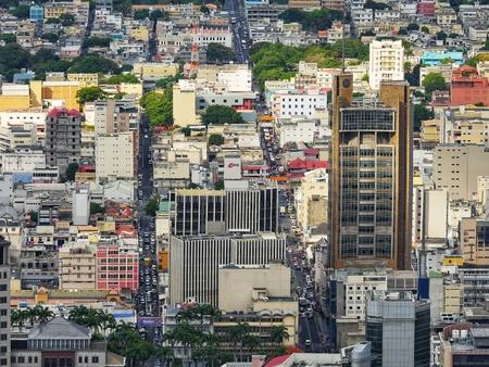 Port-Louis capital of Mauritius business centre skyline