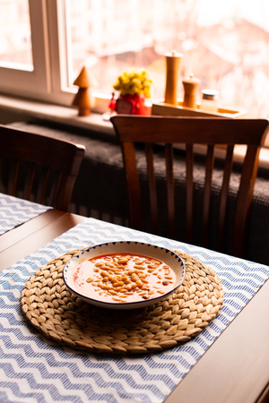 kurufasulye aka baked white beans, traditional turkish food Reklamní fotografie