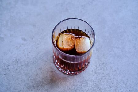 Cold brew coffee with two ice cubes Stok Fotoğraf