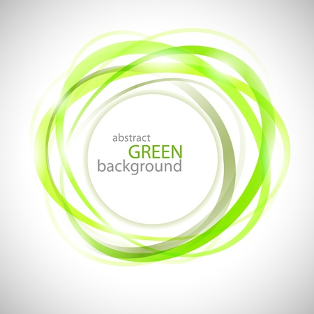 Abstract green rings vector background