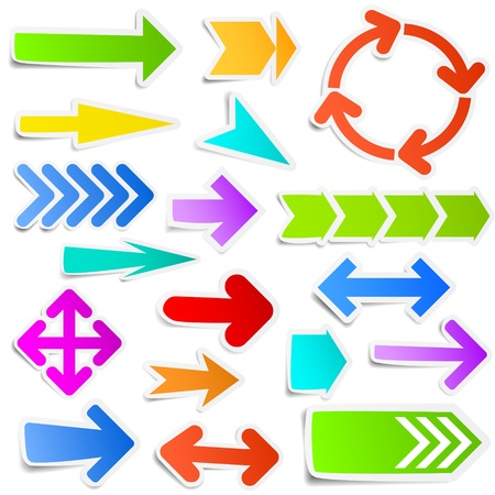 Colorful arrow stickers Stock Vector - 14652646