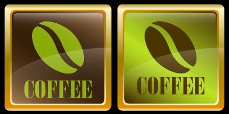 semilla de cafe: Los iconos de café en grano
