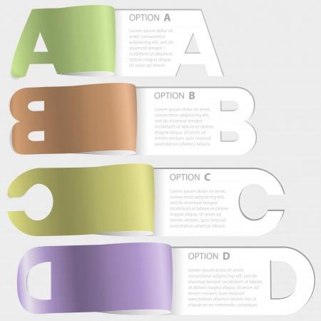 a-b-c-d paper cutoff options Illustration
