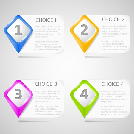 Paper choice pointers Stock Vector - 15332313