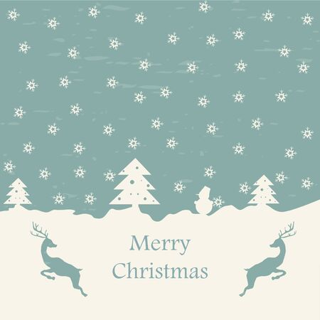 Christmas card retro eps10 vector illustration Vector