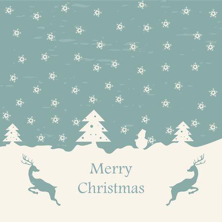 Christmas card retro eps10 vector illustration Stock Vector - 15914956