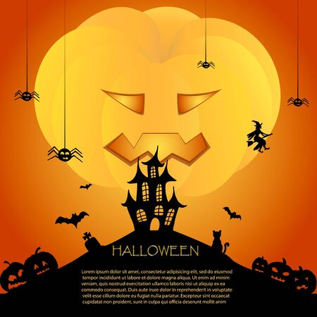 Halloween card with castle Stock Vector - 15914959
