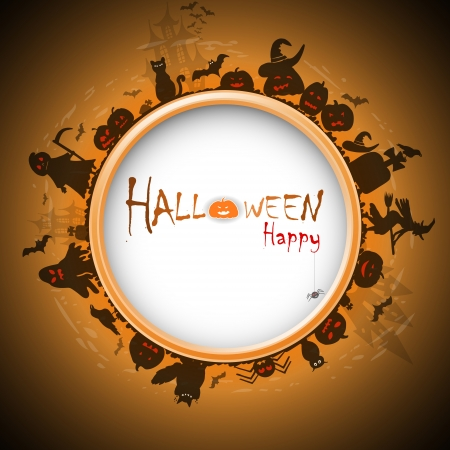 Happy Halloween with devildom in fog Stock Vector - 15914955