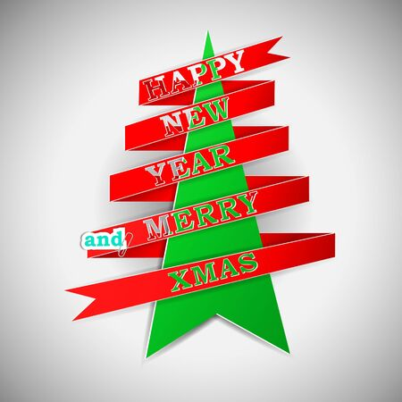 Happy New Year and Merry XMas Stock Vector - 15914961