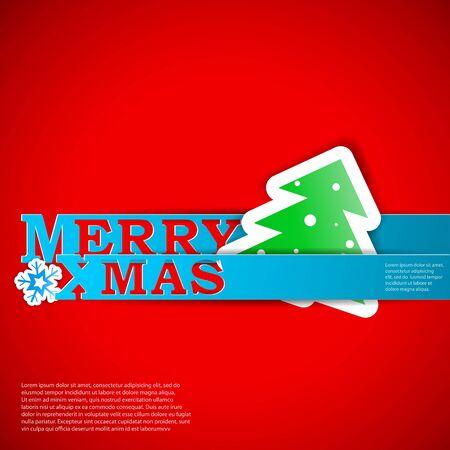Merry Xmas strips card Stock Vector - 15914968
