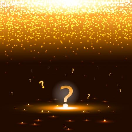 punto di domanda: Incandescente punto interrogativo con scintille