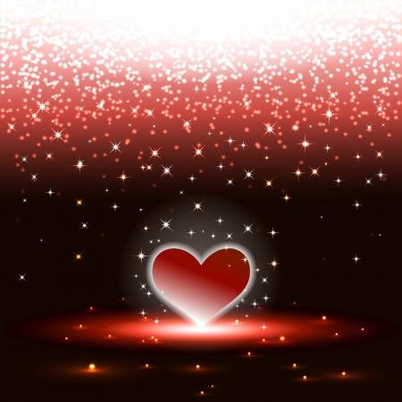 Heart with sparkles rain eps10 vector illustration Illustration