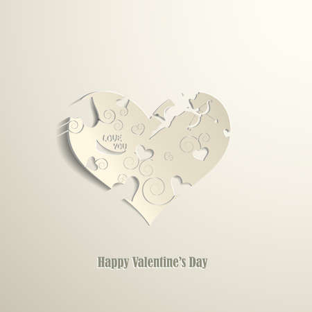 Happy Valentines Day card eps10 vector illustration