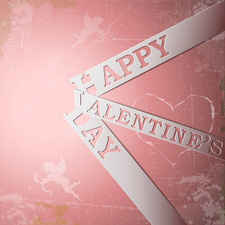 Happy Valentine's Day paper strips eps10 vector illustration Stock Vector - 17745882