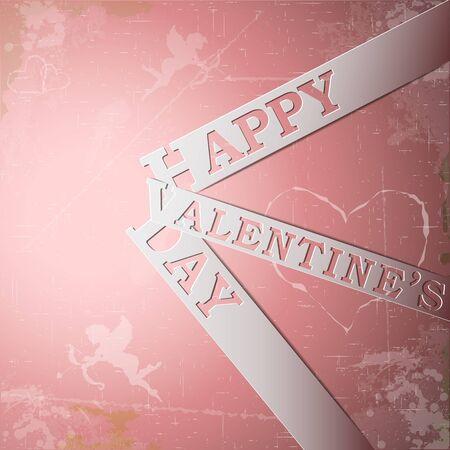 Happy Valentine's Day paper strips eps10 vector illustration Stock Vector - 17745882
