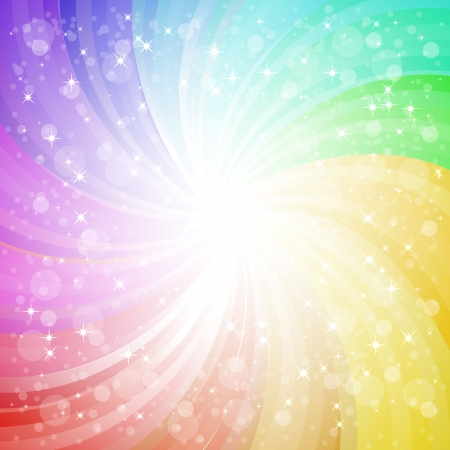 Abstract rainbow background with sparks and glares eps10 vector illustration Stock Vector - 17745864