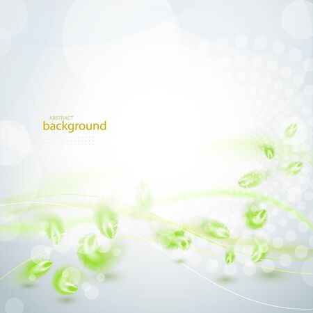 Abstract green feather background eps10 vector illustration