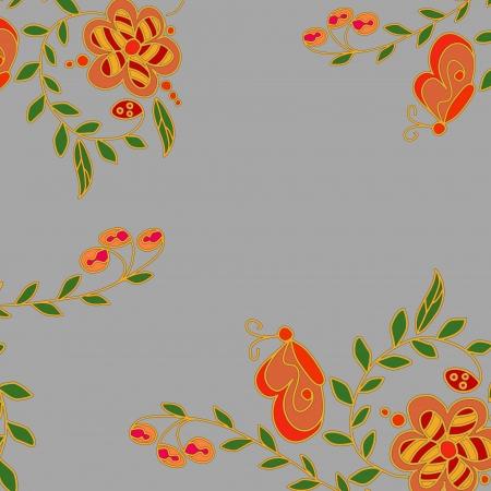 Abstract hand-drawing background, Seamless pattern with colorful flowers can be used for wallpaper, pattern fills, web page background, surface textures Stock Vector - 17745900