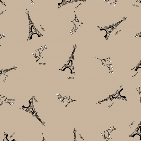 eiffel tower: Paris seamless pattern with eiffel tower. Can be used for wallpaper, pattern fills, web page background,surface textures, fabric. Illustration
