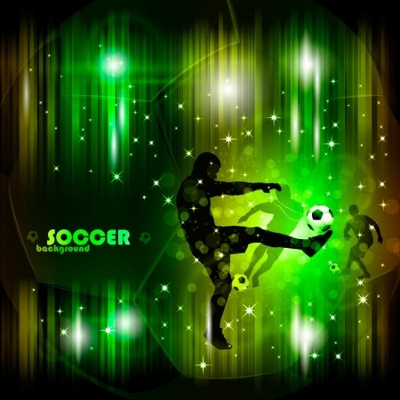 Colorful abstract soccer poster eps10 vector illustration