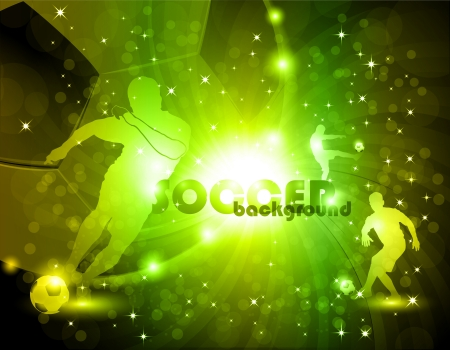 Green abstract soccer background eps10 vector illustration Vector