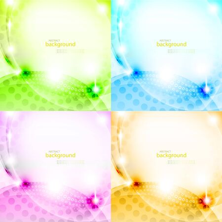 Shiny abstract background set eps10 vector illustration Stock Vector - 17982849