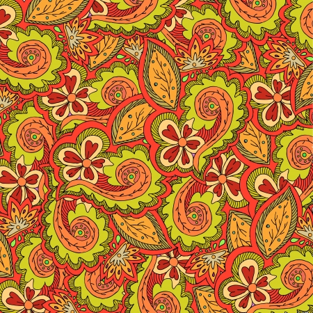 Abstract floral vector colorful ornate. Can be used for wallpaper, pattern fills, web page background,surface textures Illustration