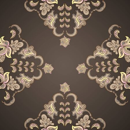 fancywork: Ornamental round vintage pattern, circle background with many details.