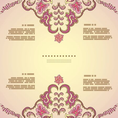 diameter: Vintage invitation card. Template frame design for card.Can be used for packaging,invitatio ns, Valentines Day decoration,bag template, print for packet, cup.