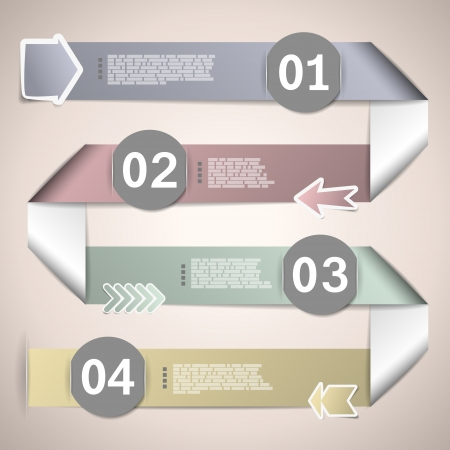 Infographic ribbons for data presentation  vector illustration