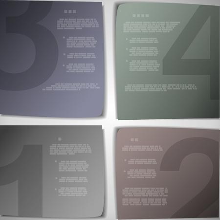 Paper pages for progress or versions presentation vector illustration Vector