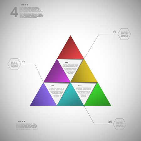 Colorful triangle for data presentation  vector illustration