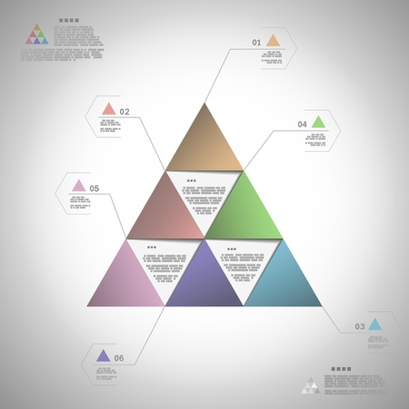 Infogrphic triangle for data presentation eps10 vector illustration